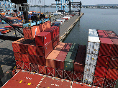 Port Authority terminals set an annual cargo volume record last year.