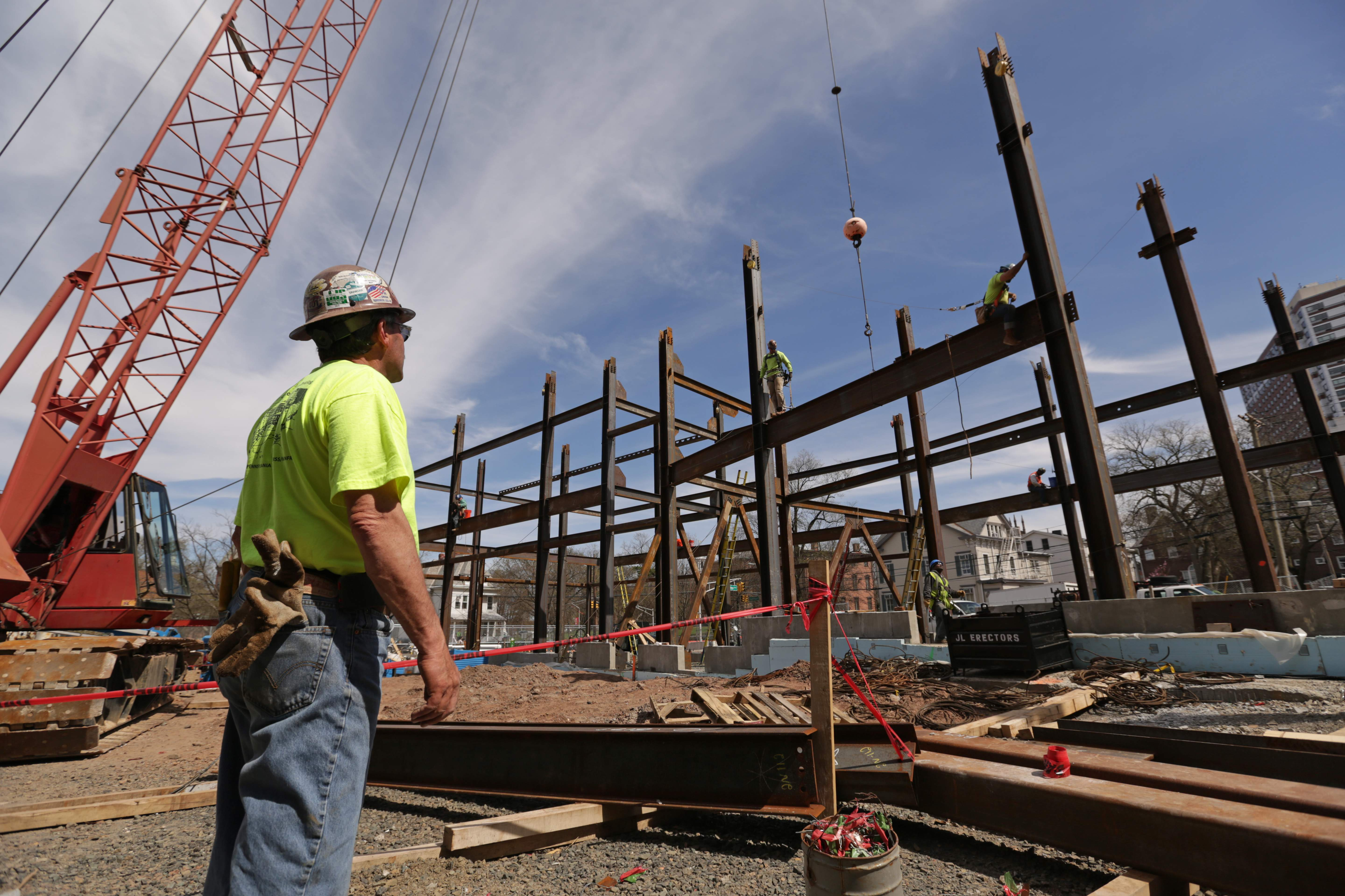 Construction of DEVCO's University Apartments project in New Brunswick.