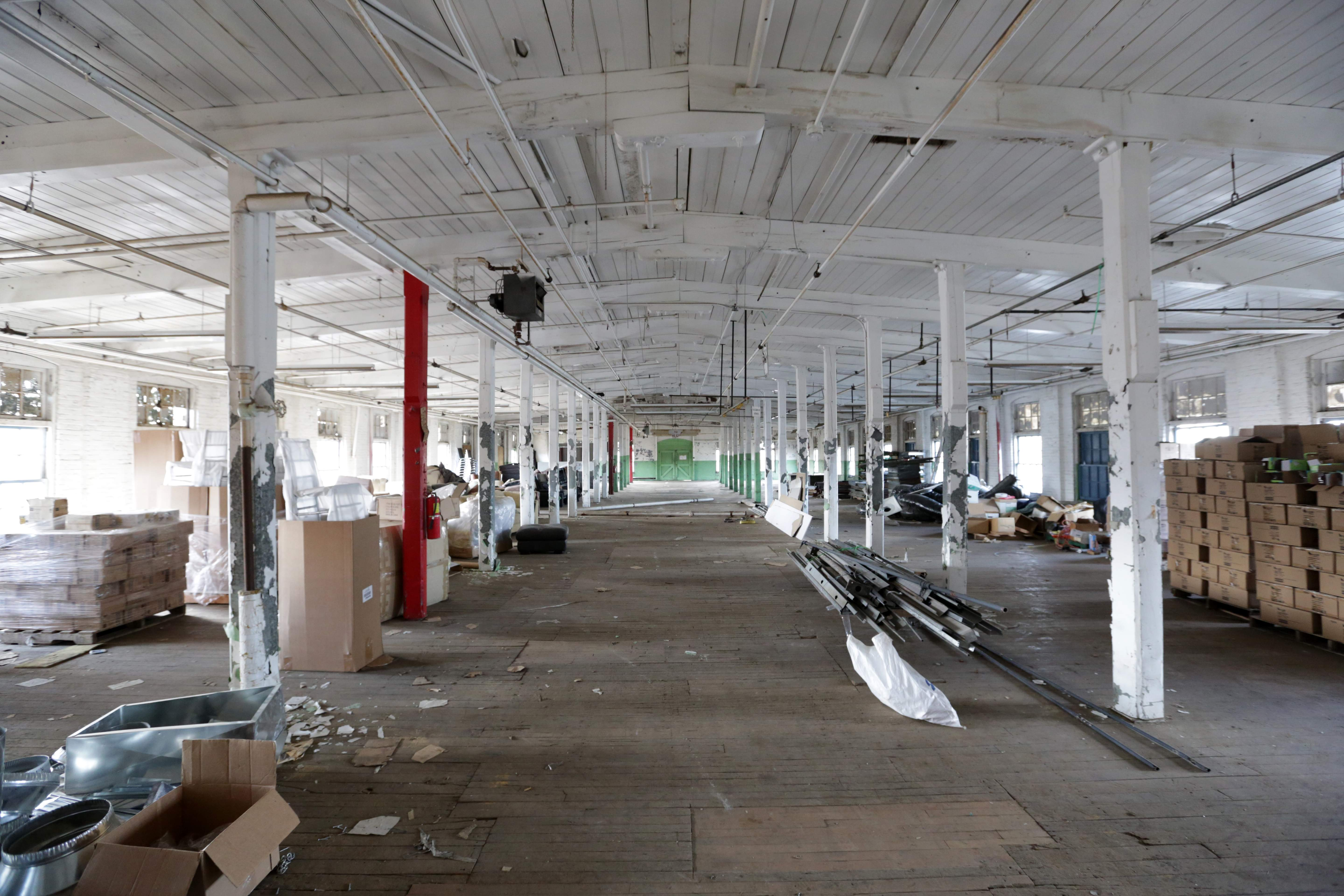 A portion of the future Factory 220 event space inside Contempo Plaza in Passaic.