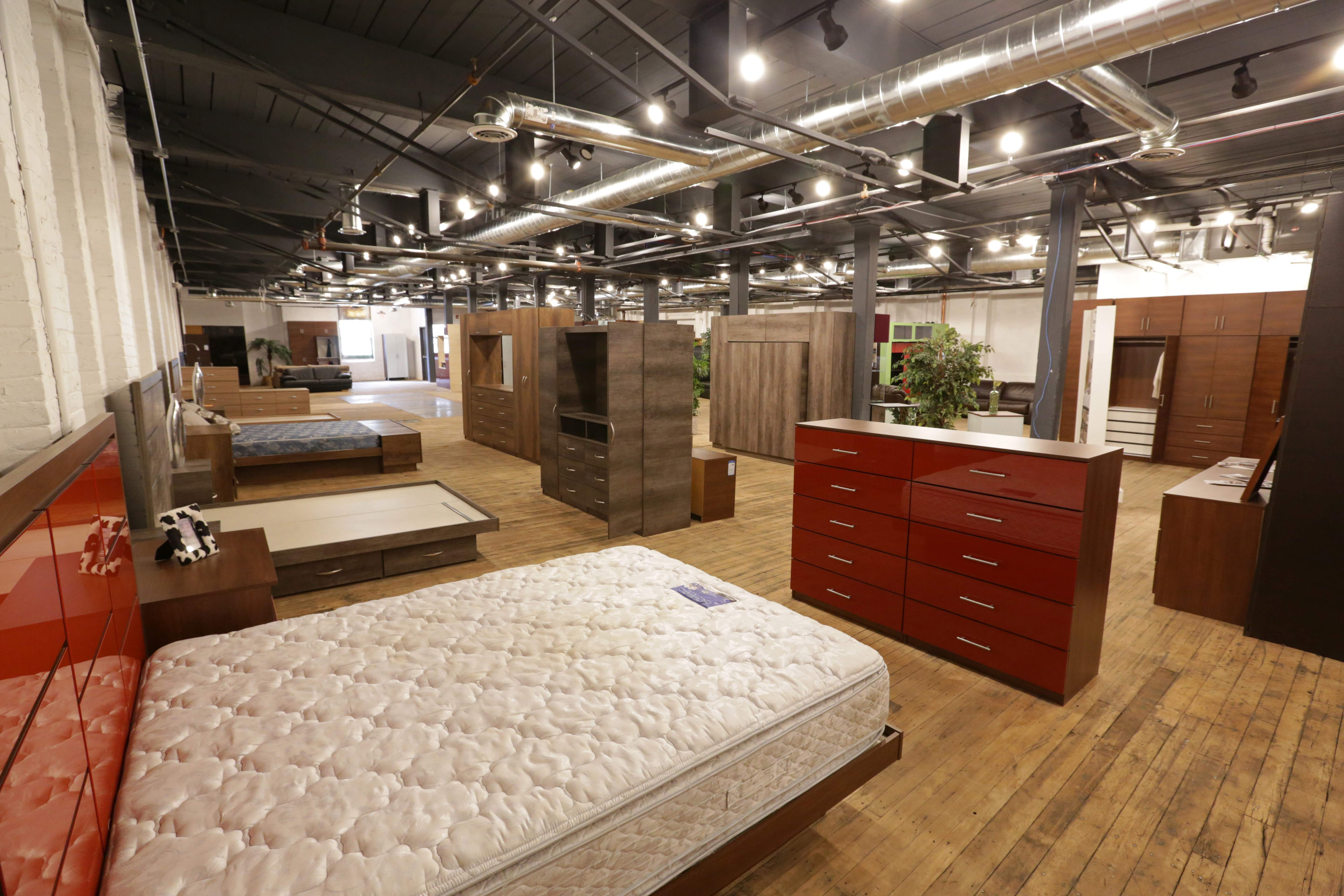 Inside the Contempo Space showroom in Passaic.