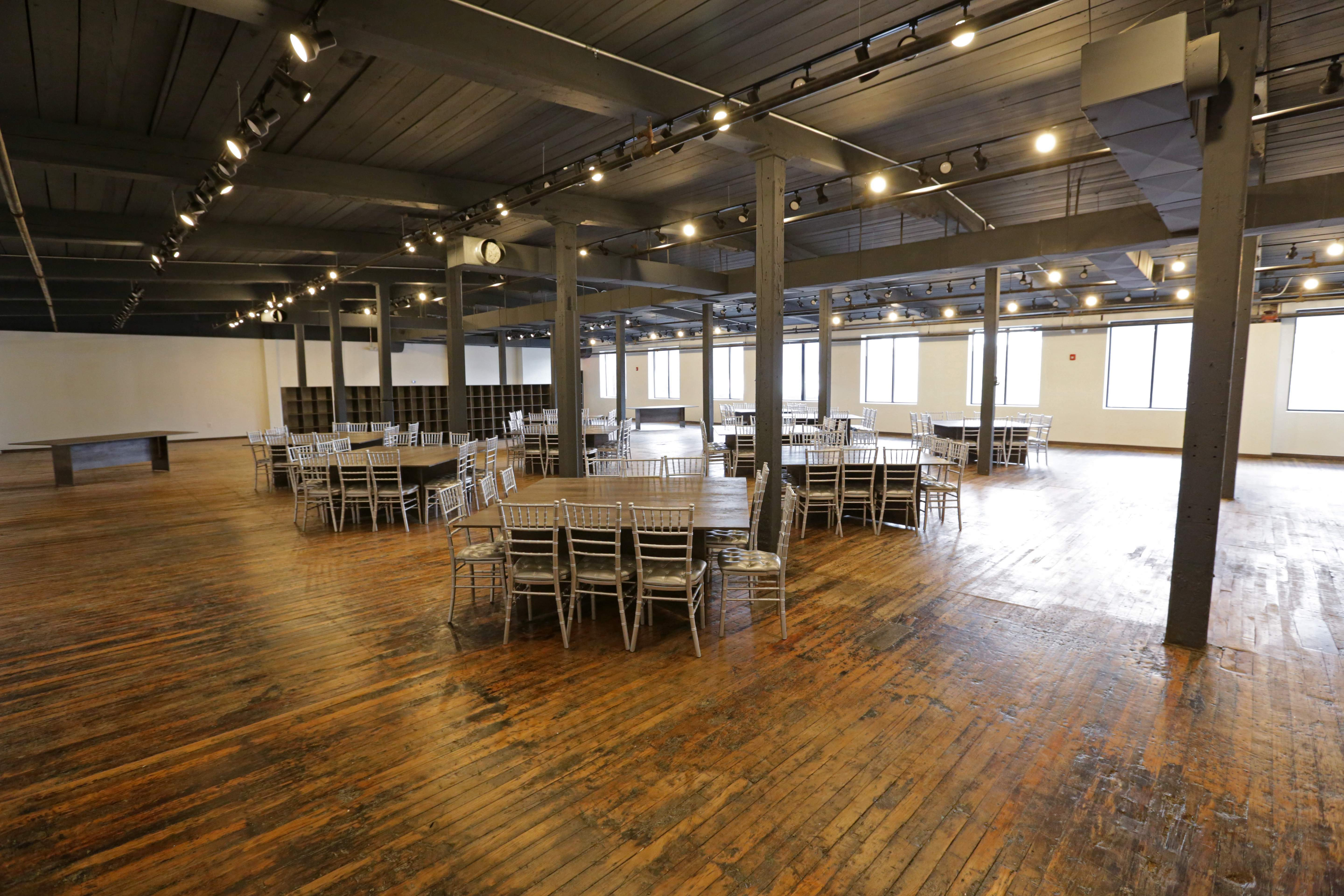 A portion of the Factory 220 event space inside Contempo Plaza in Passaic.