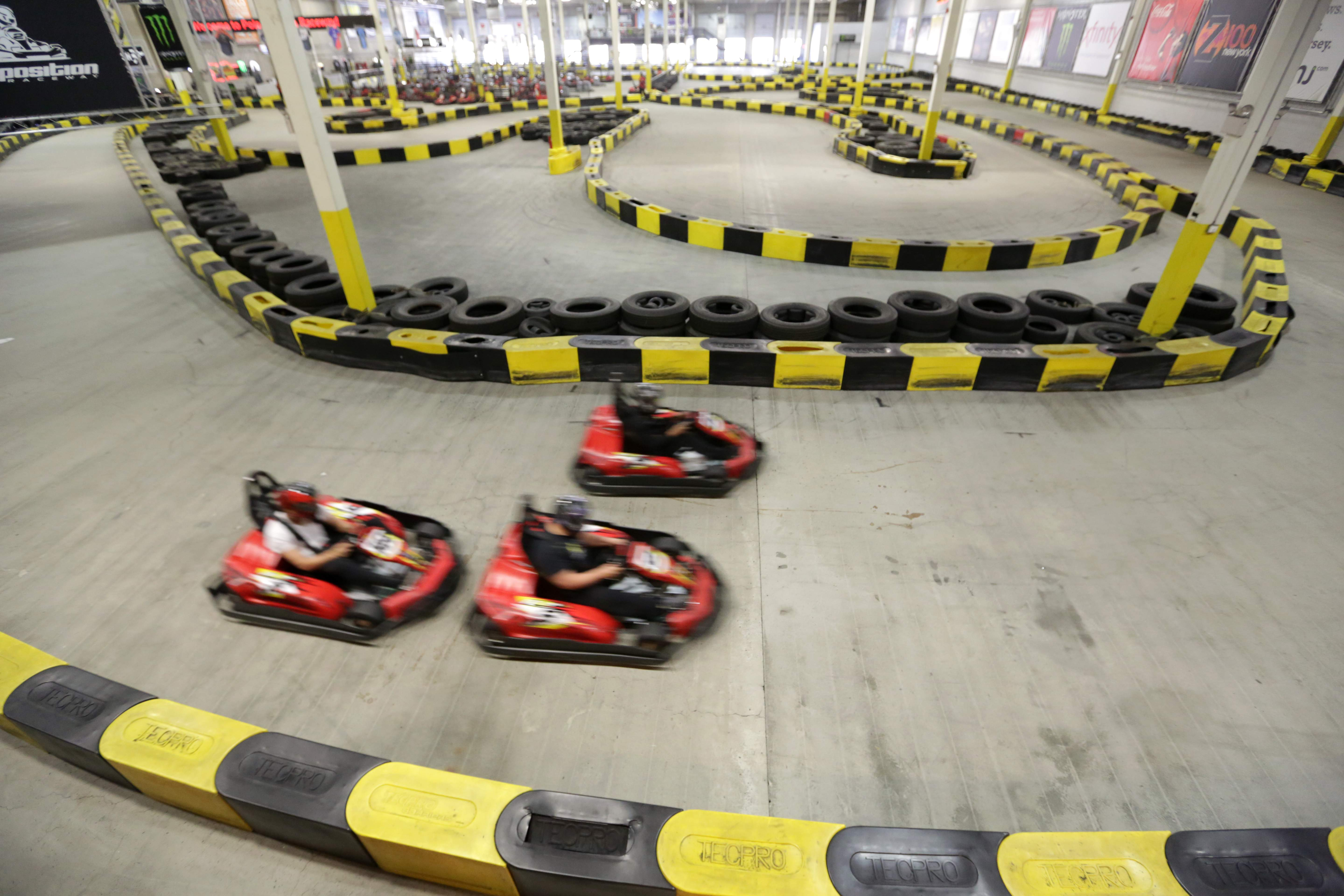 An aerial shot of Pole Position Raceway in Jersey City.