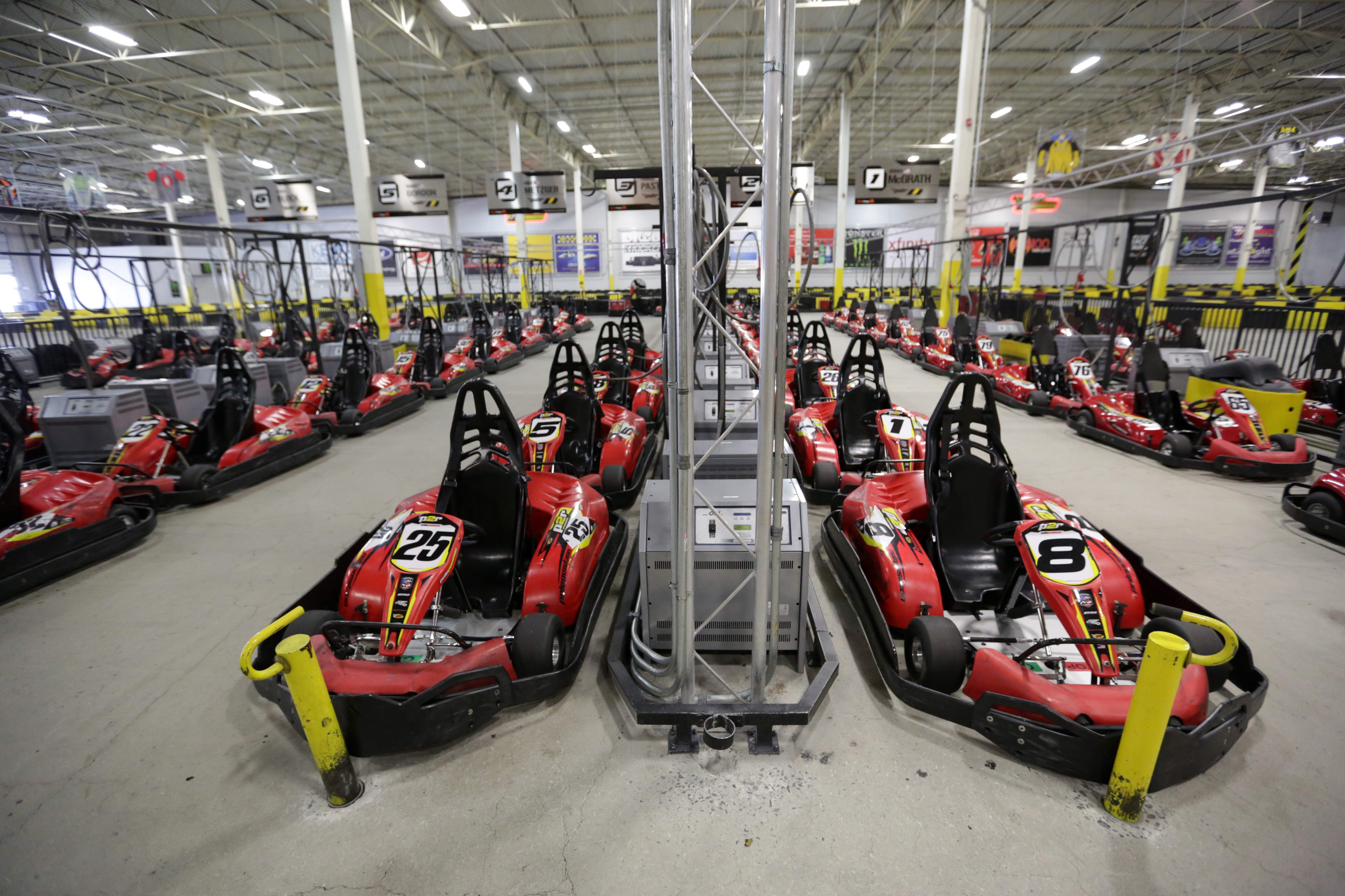 Pole Position Raceway offers an abundance of race cars at its Jersey City location.