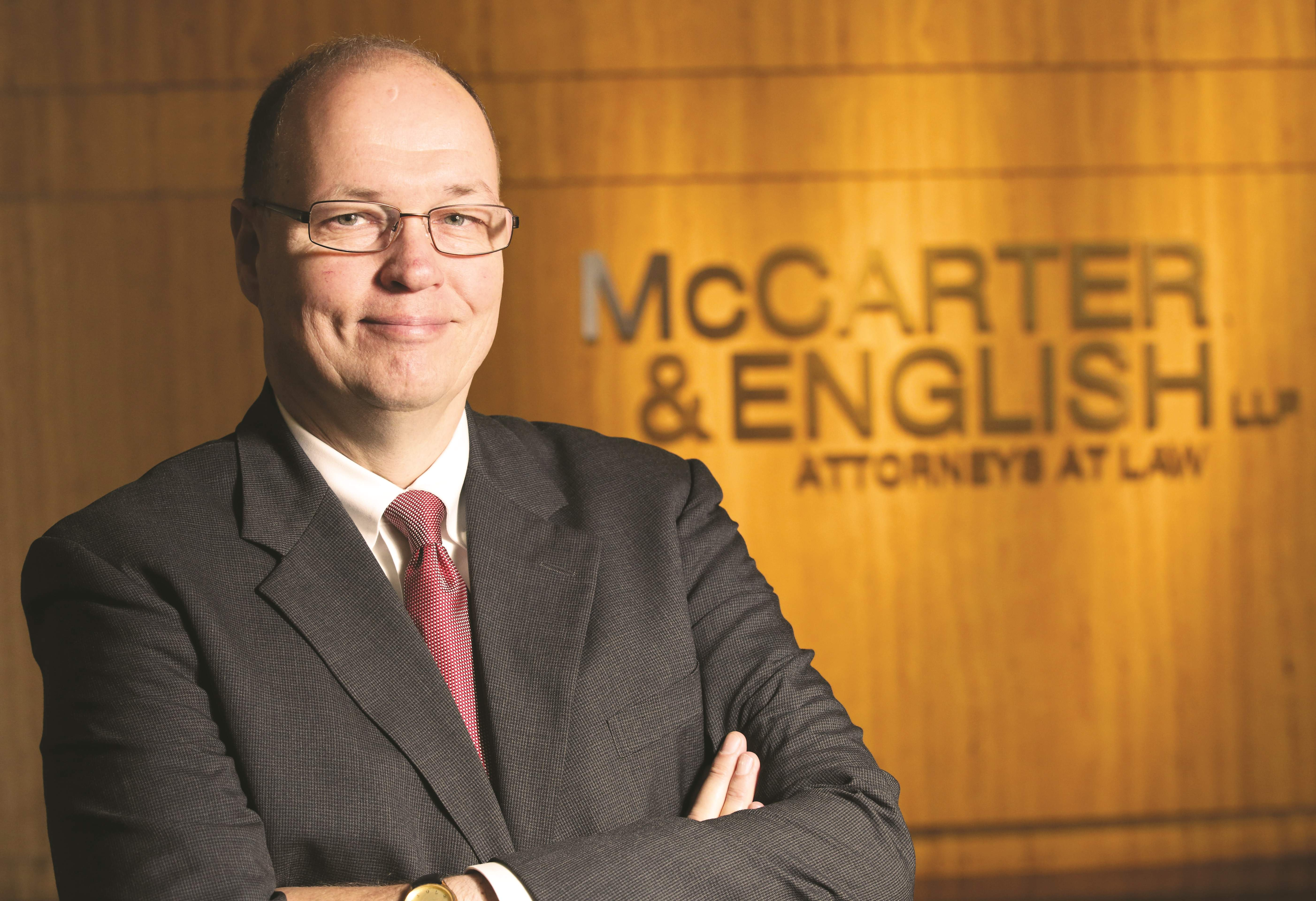 "The managing partner of McCarter & English is not nearly as visible as the heads of some of the other top firms in the state, but make no doubt about it, his firm is as visible as any. ""Their group of lawyers are top-notch,"" one insider said. ""And visible in many different fields."""