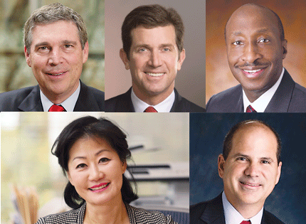 It's hard to have a list of business leaders without this group. They are the heads of some of the state's biggest billion-dollar companies: Dave Brandon (Toys R Us), Kenneth Frazier (Merck), Alex Gorsky (Johnson & Johnson), Thai Lee (SHI International) and Carlos Rodriguez (ADP). Combined, they have revenues of roughly $150 billion while employing some 30,000. Their presence and impact in the state is unmistakable — and not just for being sponsors of seemingly every business event in the state, as is the case with J&J. If you need proof of their power, look to last week, when J&J announced it was going to let go of 3,000 employees worldwide (it's uncertain how many will be in Jersey). Such an announcement from any of these companies would have real impact. And if any gave even the slightest hint that they were considering moving, you can be sure the state would step in with incentive packages rivaling any given out. Their power  — and their potential power  — is unmistakable. As is their incredible level of success. J&J and Merck are among the global leaders in their sector. Lee has one of the top women-owned companies in the world. Rodriguez is annually recognized for his  commitment to diversity and inclusion while making ADP the leader in its field. Brandon is just getting started at Toys R Us, but he starts with the No. 1 brand in the toy industry. When it comes to leading businesses in the state, these are some of the best.