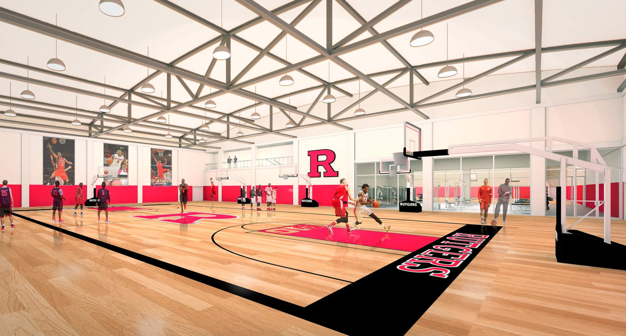 A rendering of the planned multisport training complex at Rutgers University.
