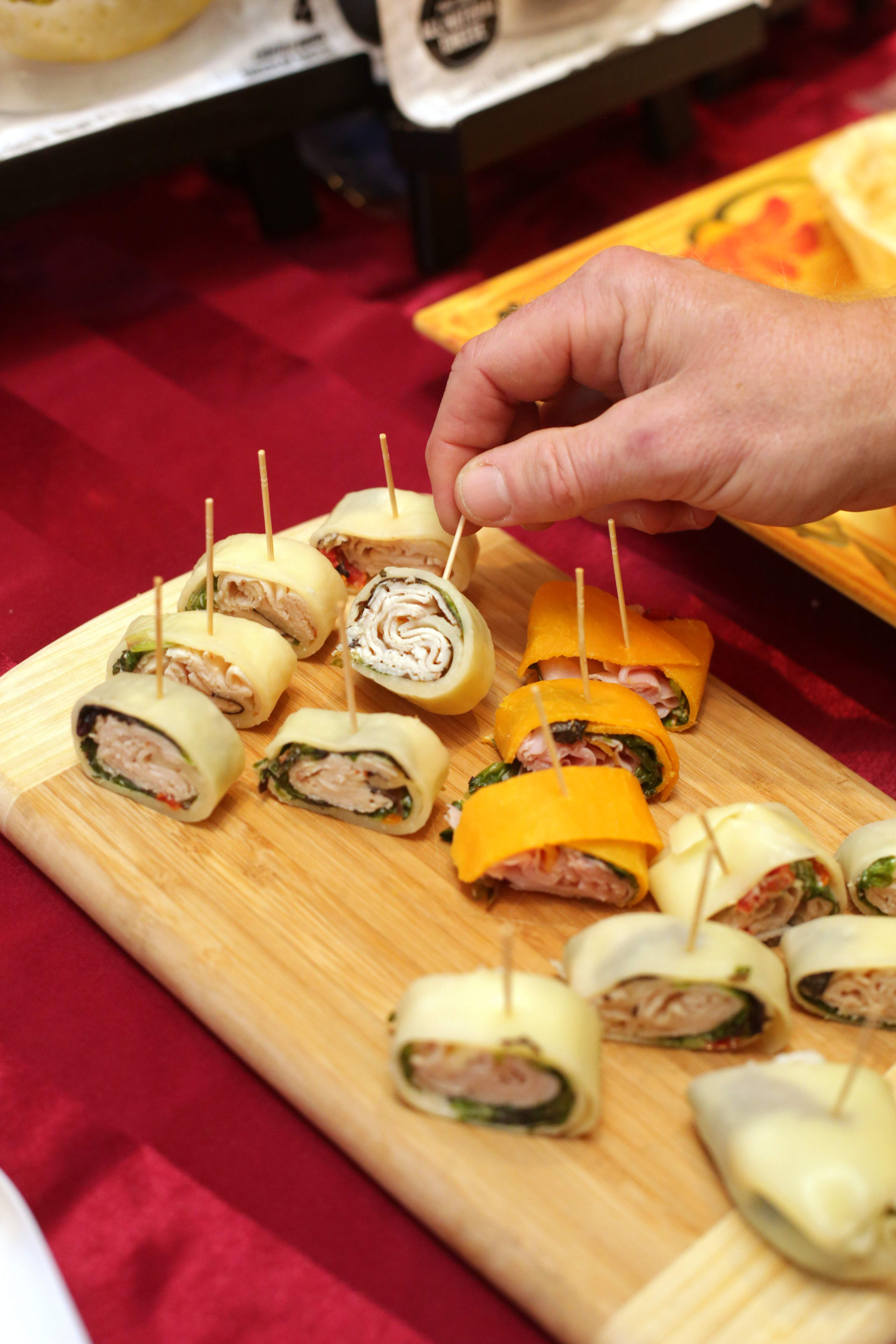 They may look like wraps, but this is cheese! Samples from the 2016 FoodBizNJ event.