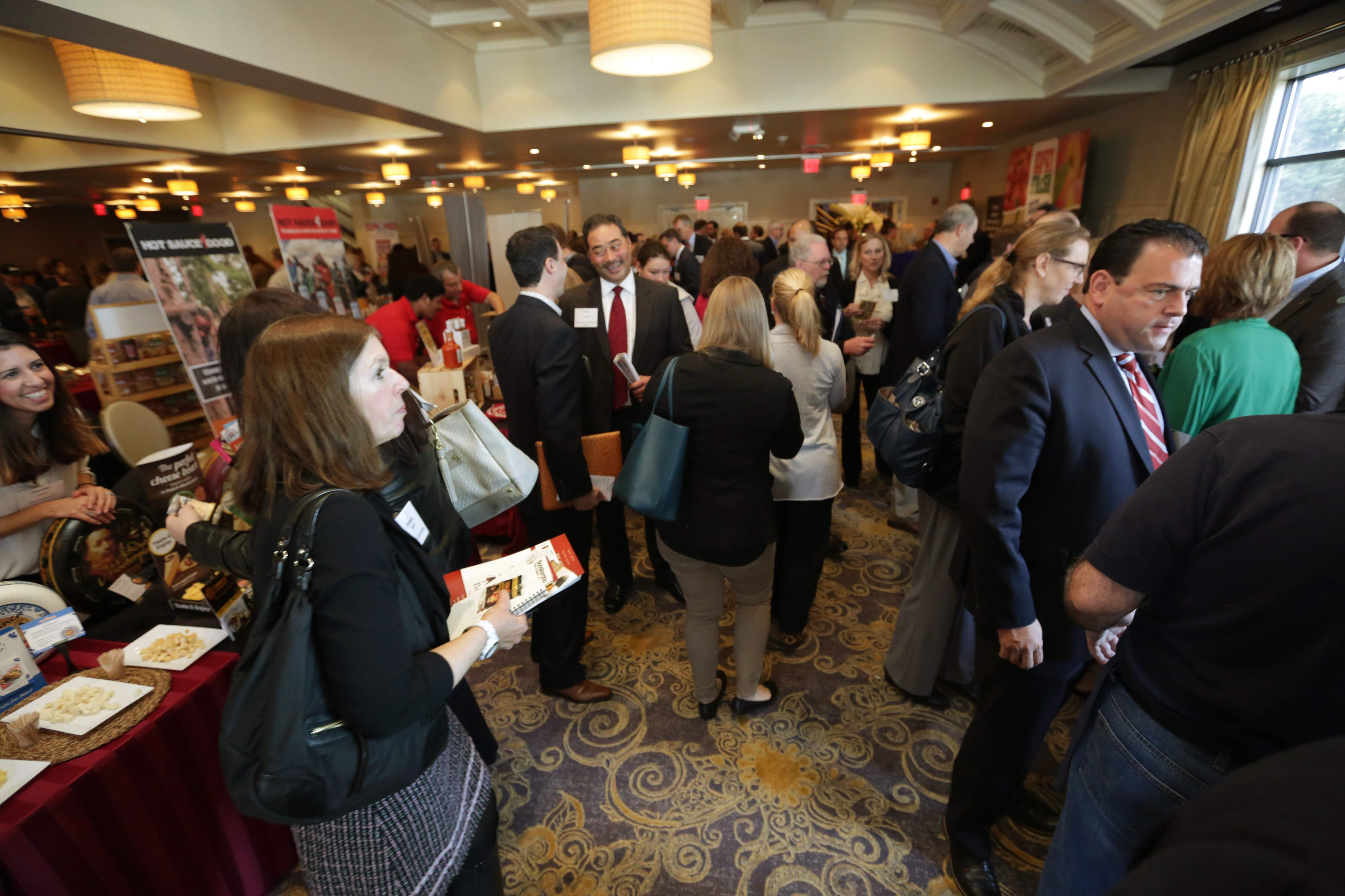 The exhibition hall was packed at the FoodBizNJ event.