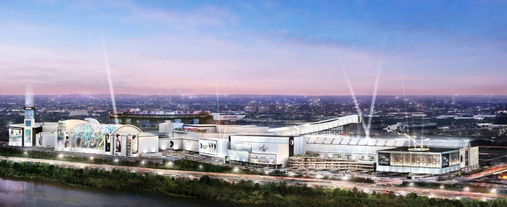 A rendering of the new look for the American Dream project in the Meadowlands. - TRIPLE FIVE WORLDWIDE