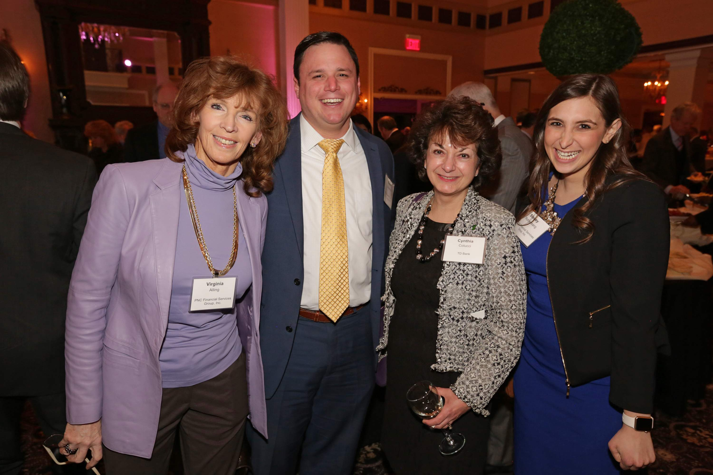 Pictured are Virginia Alling of PNC Financial Services Group Inc., an event attendee, Cynthia Colucci of TD Bank and Stacey Rothenberg of PNC Financial Services Group Inc.