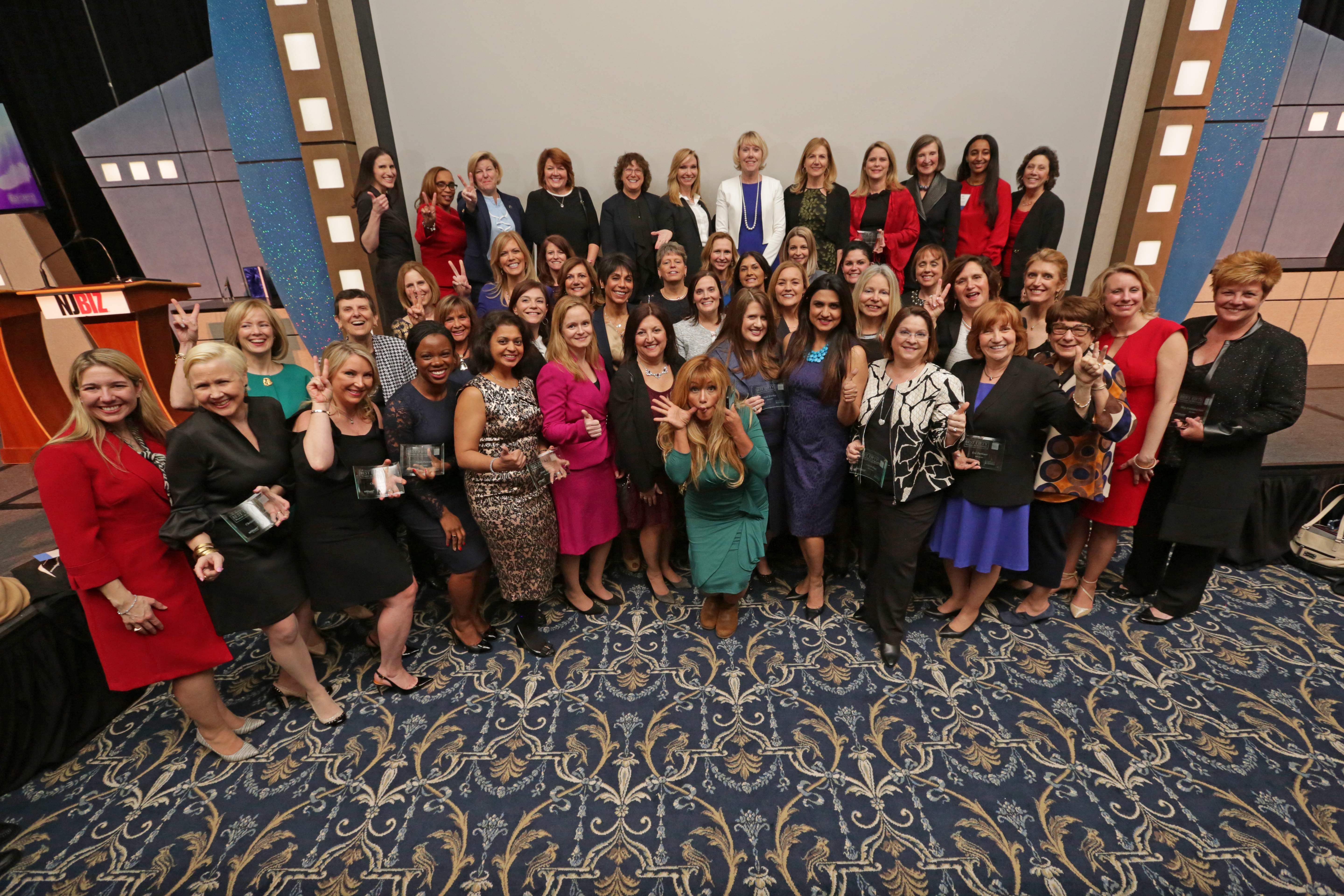 A silly shot of the Best 50 Women in Business Class of 2017.
