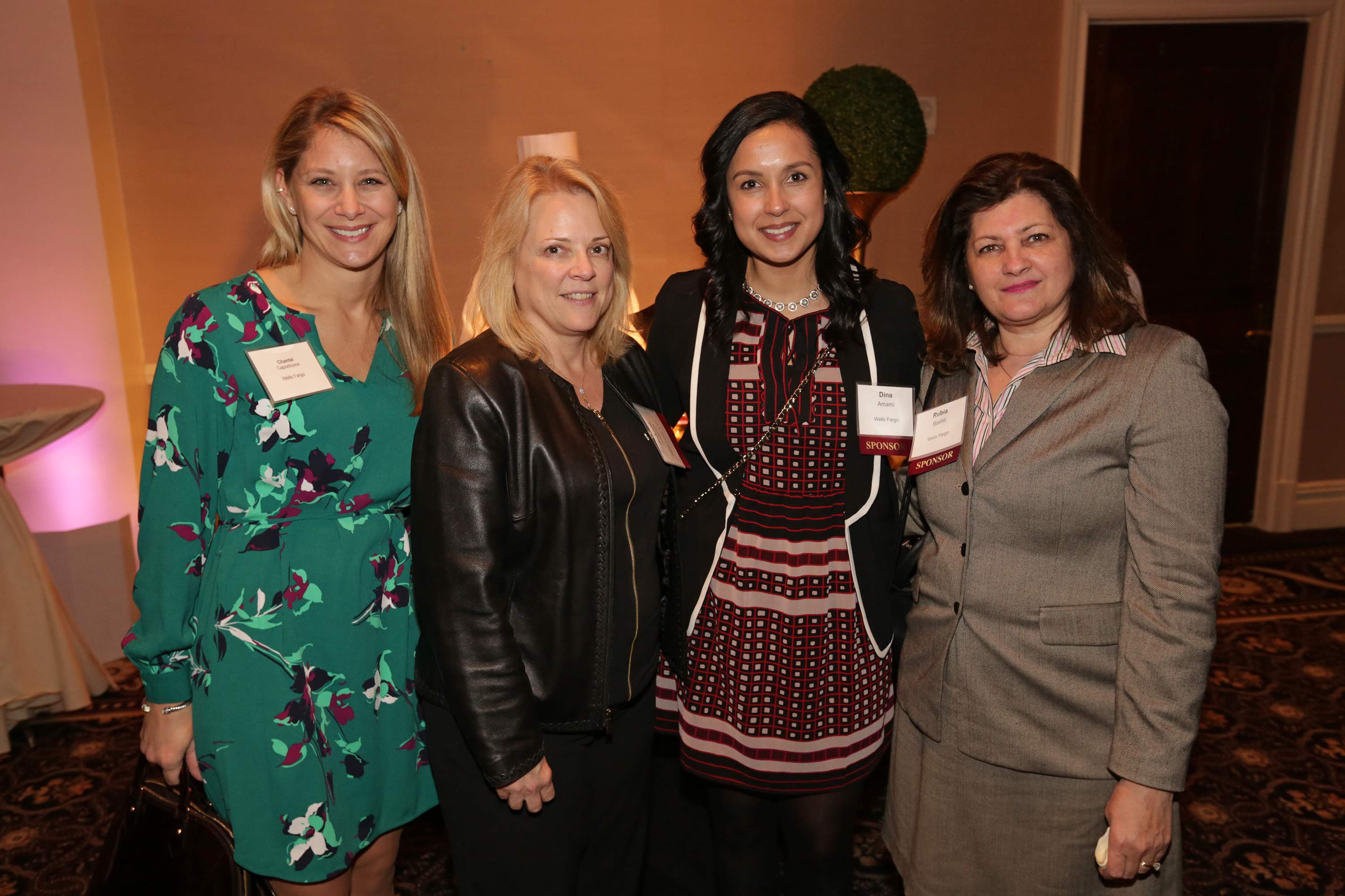 Representatives from Wells Fargo enjoying the night. Wells Fargo was the presenting sponsor of the Best 50 Women in Business event.