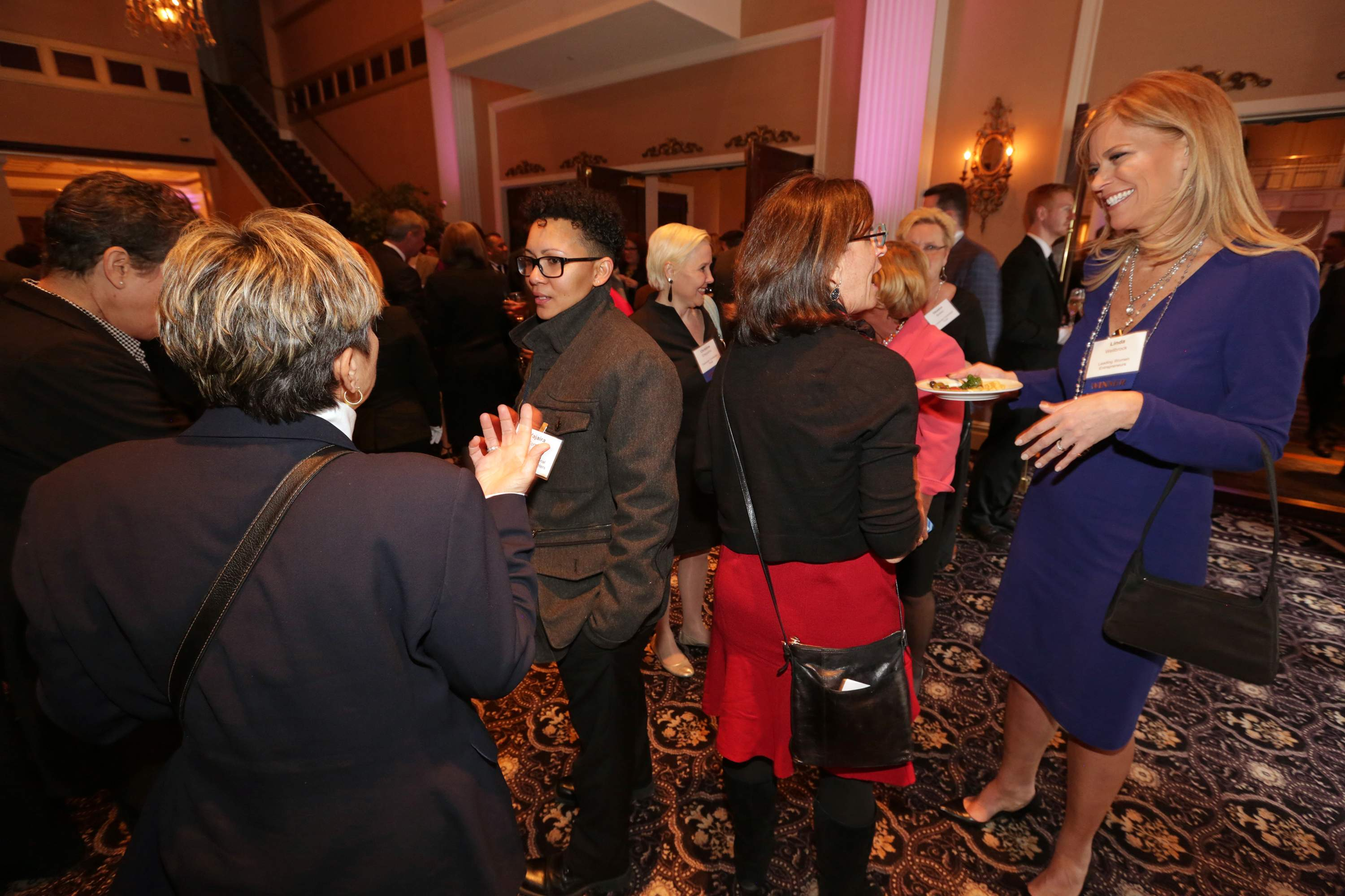 Pictured is Linda Wellbrock of Leading Women Entrepreneurs at the cocktail reception of the Best 50 Women in Business event.