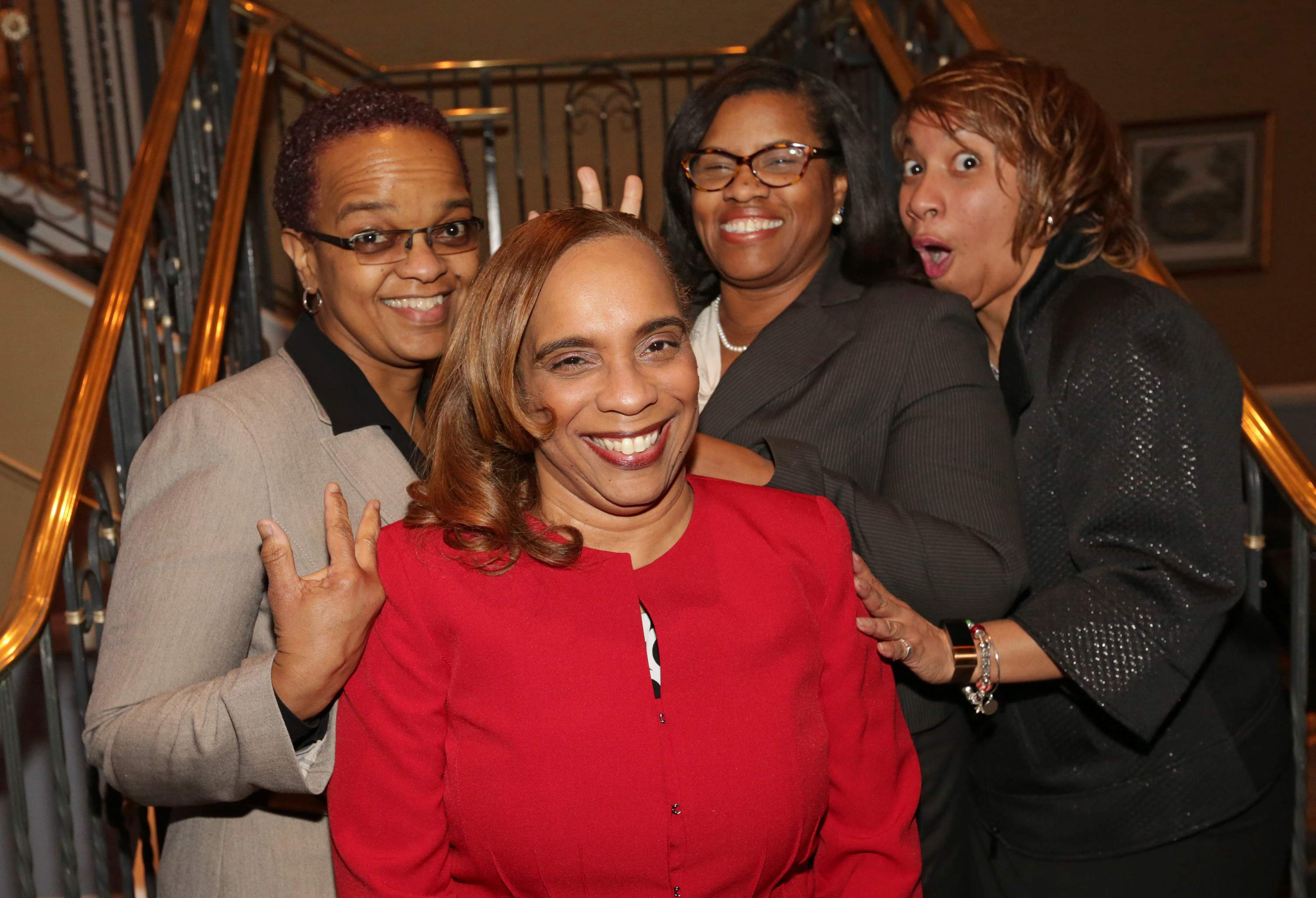Leslie A. Anderson of the New Jersey Redevelopment Authority (front), with attendees of the Best 50 Women in Business event. Anderson was a honoree.