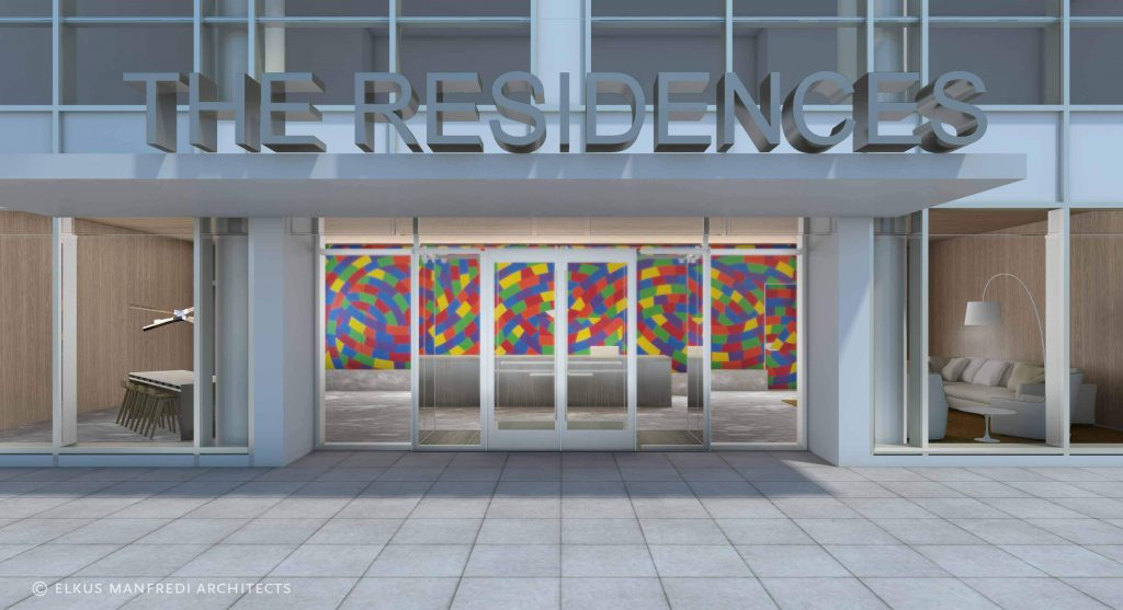 The outdoor entrance to 'The Residences' at the New Brunswick Performing Arts Center. - NJBIZ FILE PHOTO