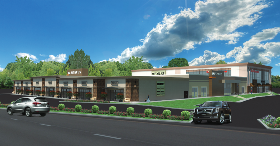 A rendering of the Greenleaf at Union shopping center at Route 22 and West Chestnut Street, Union.