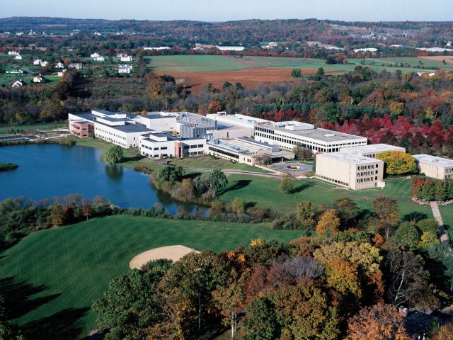 The Bristol-Myers Squibb campus in Hopewell.
