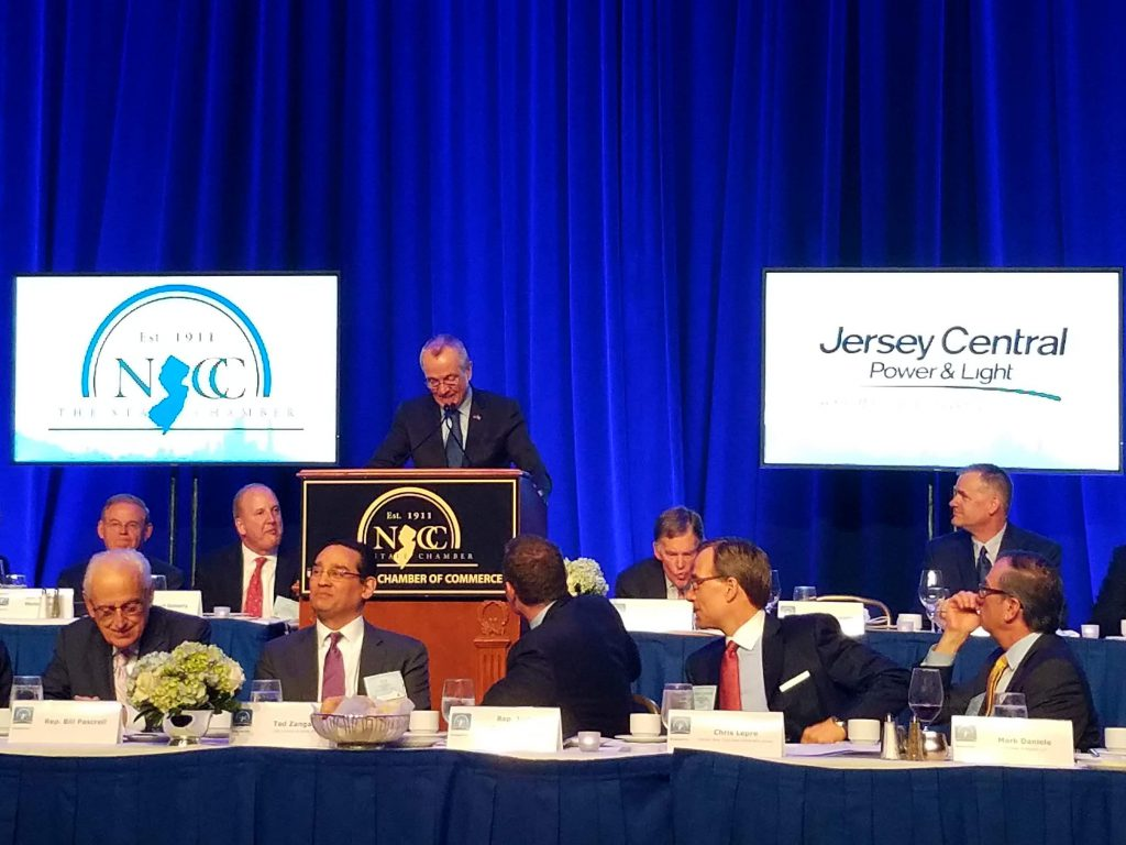 Gov. Phil Murphy talks business, taxes and education at the 2018 New Jersey State Chamber Walk to Washington.