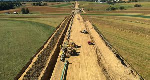 A pipeline being installed.
