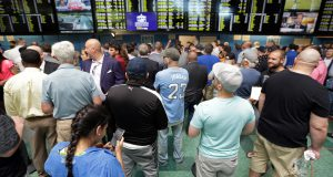 Opening day of New Jersey sports betting at Monmouth Park.
