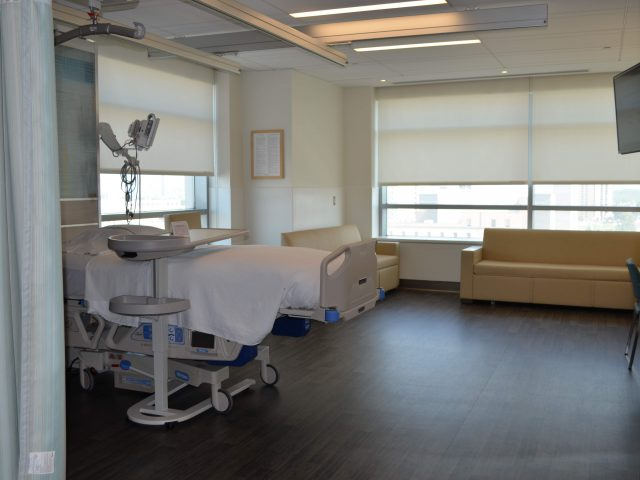 Cooper's new hospital rooms.