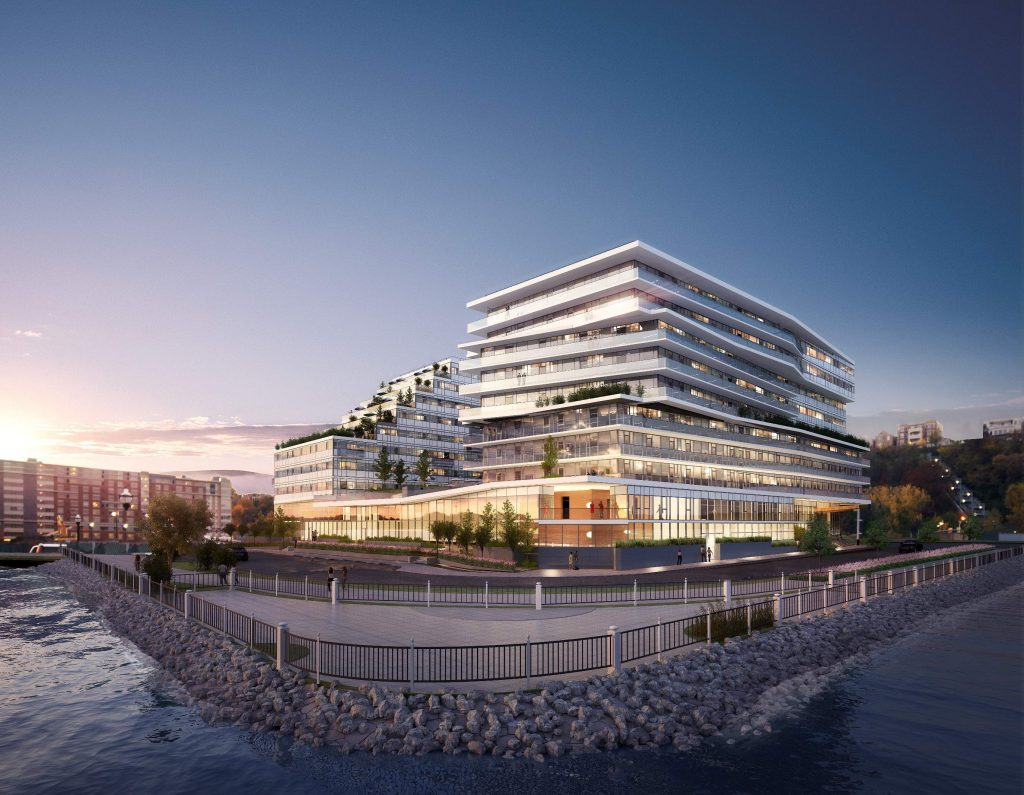 A rendering of the Avora project in Weehawken.