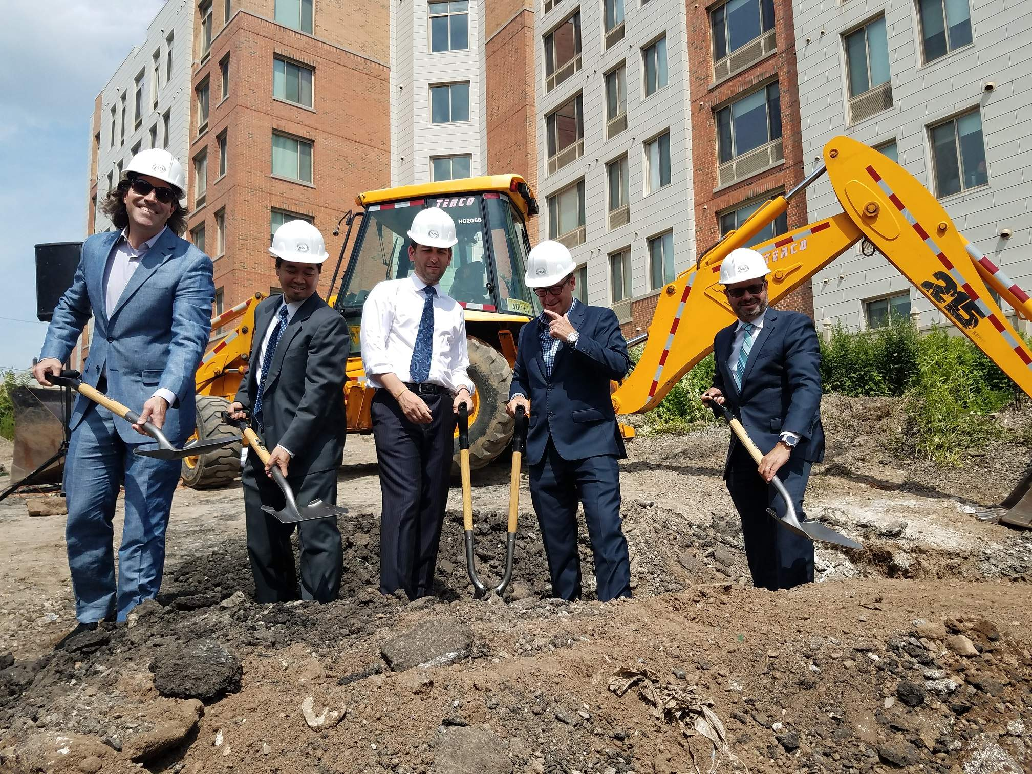 Officials break ground for the Nest Micro Apartments project in Jersey City.