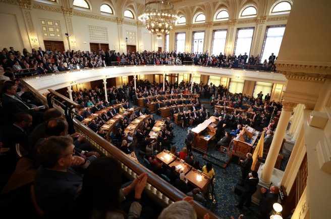 Gov. Phil Murphy delivers his State of the State Address on Jan. 15, 2019.
