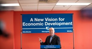 Gov. Phil Murphy tours Indiegrove in Jersey City and announces New Vision for State's Tax Incentive Programs on Jan. 16, 2019.