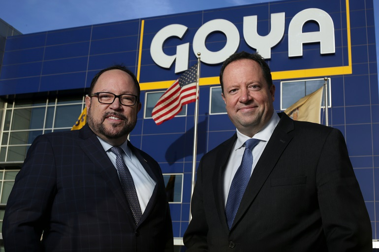 From left, Bob Unanue, president, and Peter Unanue, executive VP, Goya. The two are pictured at Goya's headquarters in Jersey City.