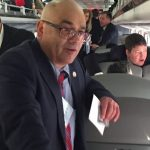 Reed Gusciora, Mayor of Trenton on the New Jersey Chamber of Commerce's 2020 Walk to Washington Chamber Train.