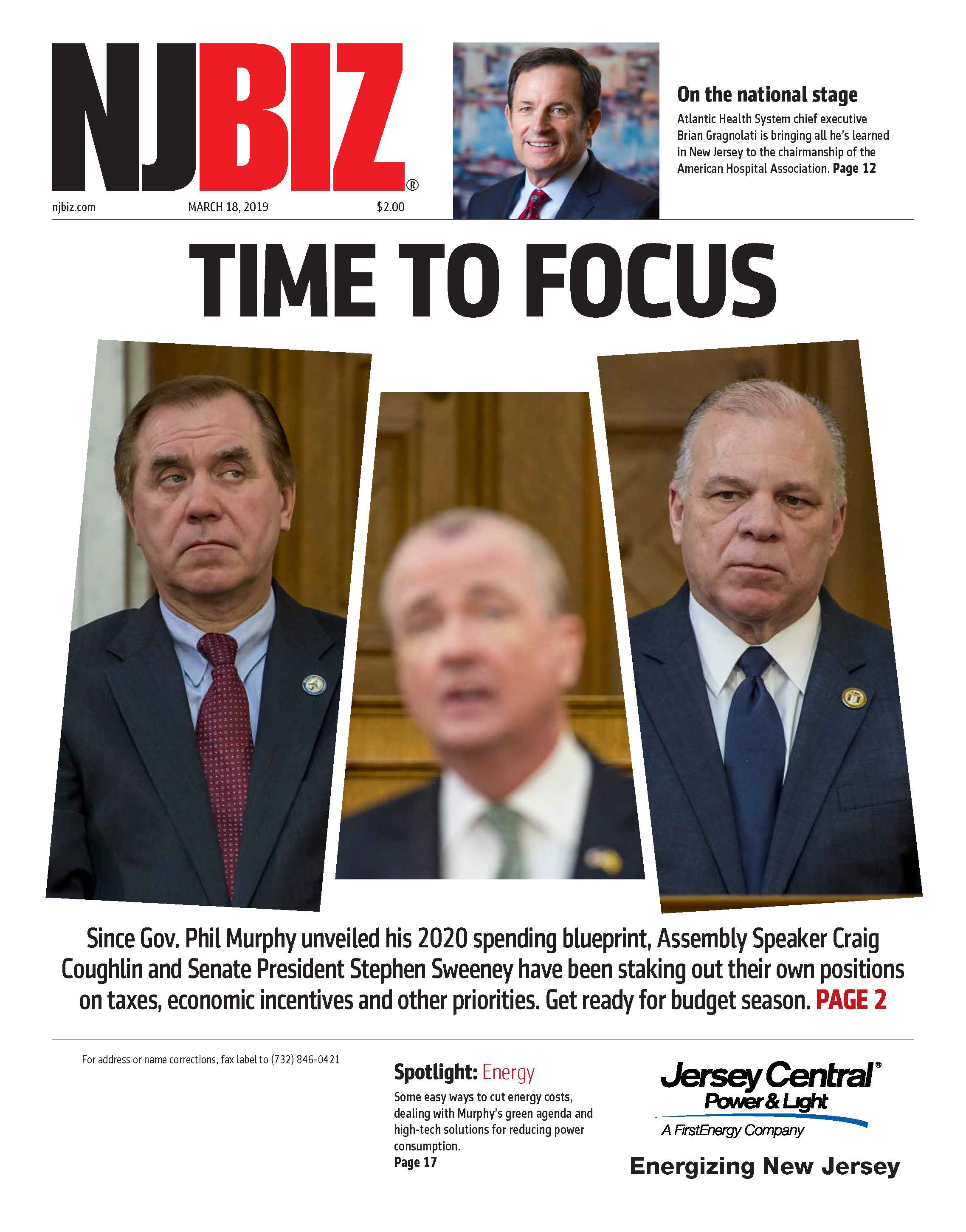 March 18, 2019 Edition of NJBIZ&nbsp;<span class=