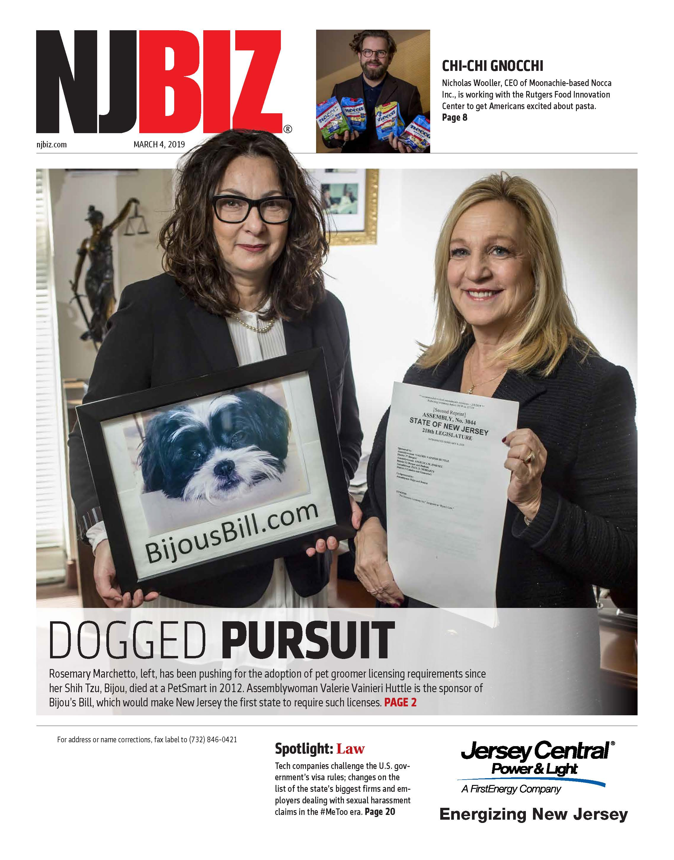 March 4, 2019 Edition of NJBIZ&nbsp;<span class=