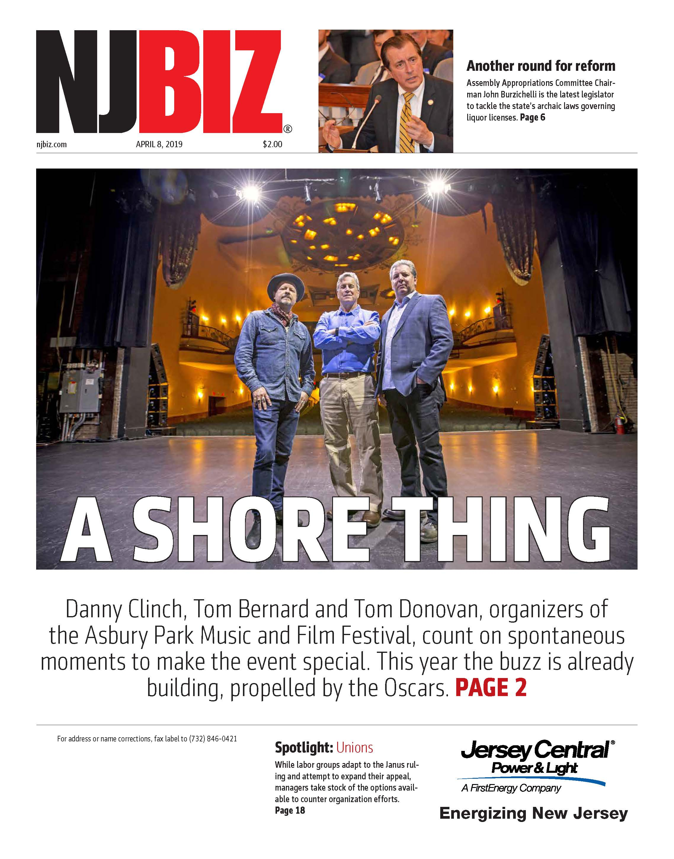 April 8, 2019 Edition of NJBIZ