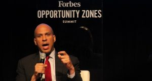 Sen. Booker at Forbes Opportunity Zone Summit in Newark on Tuesday, May 21, 2019