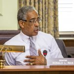 Sen. Ronald Rice speaks during the Senate Health, Human Services and Senior Citizens Committee meeting regarding medical cannabis on May 20, 2019. - AARON HOUSTON