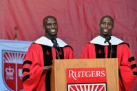 Super Bowl champions and Rutgers alumni Jason McCourty and Devin McCourty deliver the 2019 Commencement address.