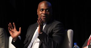 Newark Mayor Ras Baraka speaks at the 2019 Forbes Opportunity Zones Summit in Newark in May.
