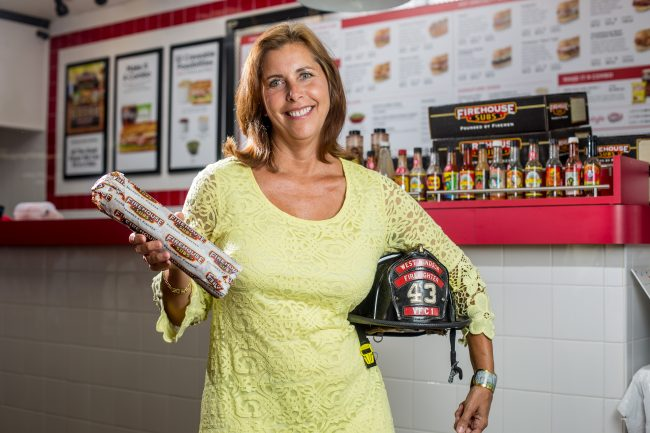 Marilou Halvorsen, president and CEO, New Jersey Restaurant and Hospitality Association, at Firehouse Subs in Lawrenceville.