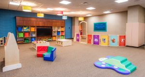 The Kids Academy at Life Time Bridgewater is availble for children ages three months to 11.