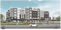 Construction financing rendering for the multifamily project at 238 W. Fort Lee Road in Bogota.