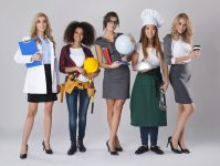 Multi ethnic group of women with various occupations