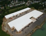 Aerial view of Dayton Business Park in Cranberry. - FENTON CONSTRUCTION