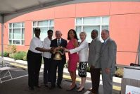 U.S. Sen. Bob Menendez helps ring the bell to kick off National Health Center Week. - PROJECT HOPE