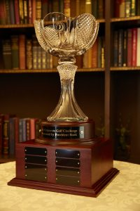 The Event's Perpetual Trophy is Displayed at the Winning Team's Corporate Offices for a Year.