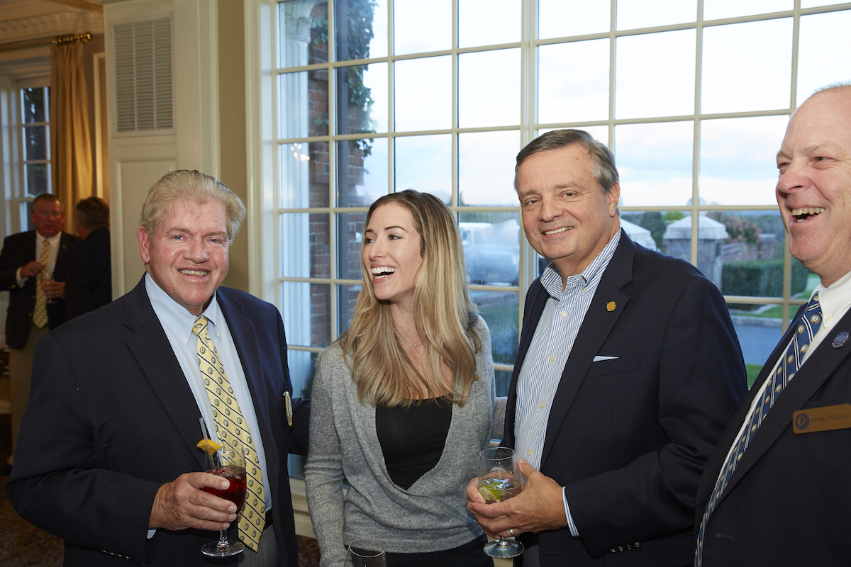 Business Networking Abounds at the Corporate Challenge – (from left to right; Dan Meehan, NJSGA; Andrea Reid, Provident Bank; Len Gleason, Provident Bank and Kevin Purcell, Executive Director – NJSGA).