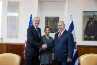 Gov. Phil Murphy and First Lady Tammy Murphy meet with Prime Minister Netanyahu on Oct. 23, 2018.