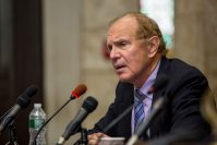 Former senator Raymond Lesniak gives testimony during a meeting of the Senate Select Committee on Economic Growth Strategies. (Photo by Aaron Houston)