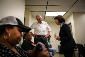 Gov. Phil Murphy meets with Newark residents served by the Pequannock service area at the Newark Health Department on Aug. 14, 2019.