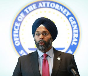 New Jersey Attorney General Gurbir Grewal holds a press conference on immigration and law enforcement in Newark on Sept. 27, 2019.